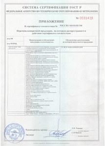 Приложение к сертификату 2018-2021гг.