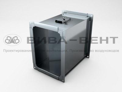 Дроссель-клапан для прямоугольного воздуховода