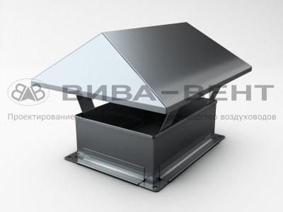 Зонт крышный для прямоугольного воздуховода