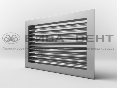 Решетка вентиляционная однорядная регулируемая АМН, АМР (жалюзийные решетки регулируемые)